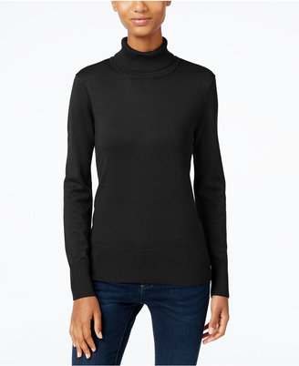Cable & Gauge Ribbed Turtleneck Sweater $60 thestylecure.com
