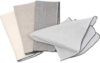 "Adelene Simple Cloth Linen Napkin ""Parchment"" (Set of 2)"