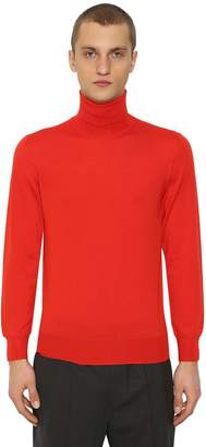 Jil Sander Turtleneck Wool & Silk Sweater