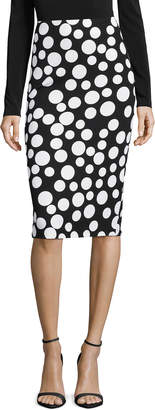5twelve Polka-Dot Pencil Midi Skirt