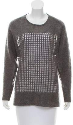 Helmut Lang Open Knit Crew Neck Sweater
