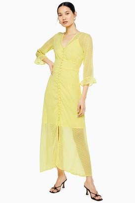 Topshop Yellow Maxi Dress by Yas