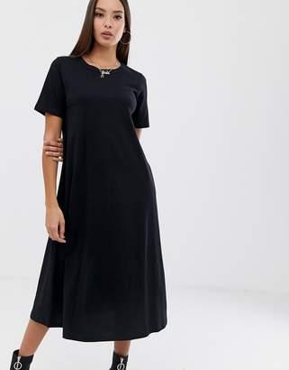 93f20ab5e71 Asos Design DESIGN huge midi swing t-shirt dress