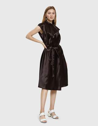 Lemaire Lacquered Satin Short Sleeve Dress
