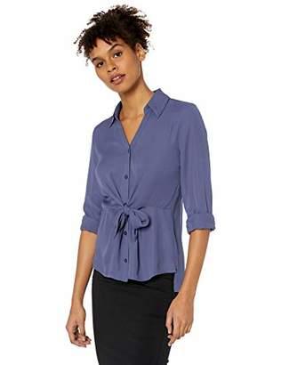 Amy Byer A. Byer Tie-Front Shirt (Junior's)