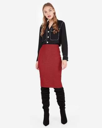 Express High Waisted Houndstooth Clean Pencil Skirt