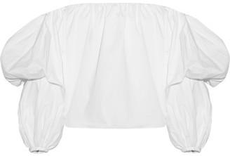 Johanna Ortiz - Manaure Off-the-shoulder Cotton-blend Poplin Top - White