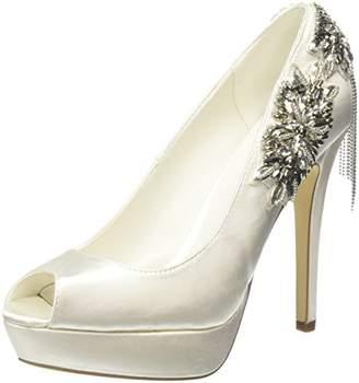 Menbur Women's HENARES Open-Toe Heels, (White 04), 6 UK 39 EU