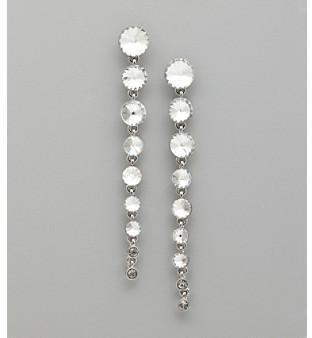 GUESS Nine Stone Linear Earrings