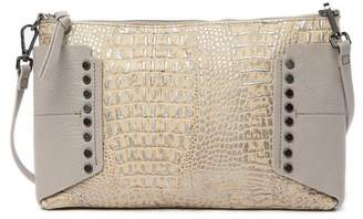Kooba Copland Croc Embossed Leather Crossbody Clutch