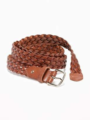 Old Navy Braided Faux-Leather Belt for Women