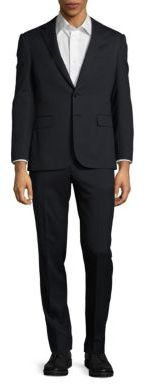 Polo Ralph LaurenSmall-Stripe Woolen Two-Button Suit
