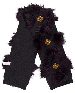 Marc Jacobs Embellished Wool Scarf
