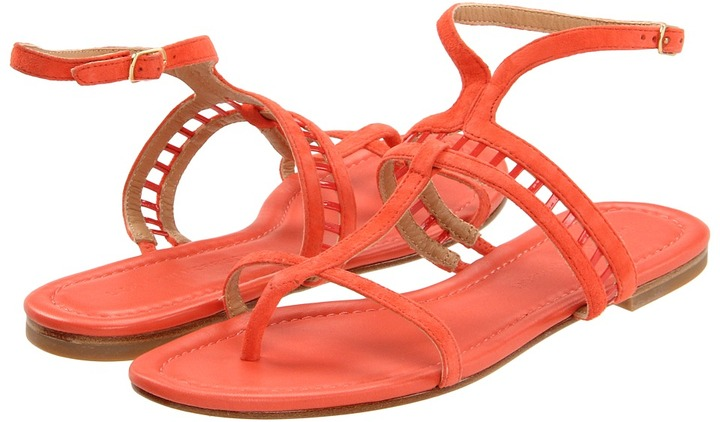 Sigerson Morrison Kade (Coral Orange Suede) - Footwear