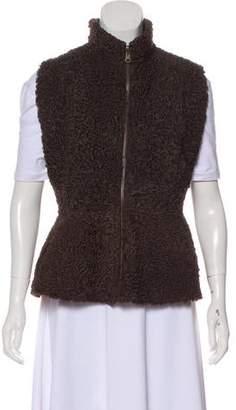 Fur Fuzzy Stand Collar Vest