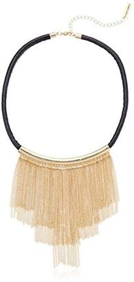 Steve Madden 3 Tier Metal Fringe Necklace