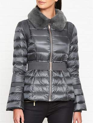 1d1ac6071080c0 at Very Exclusive · Ted Baker Yelta Faux Fur Collar Down Padded Jacket