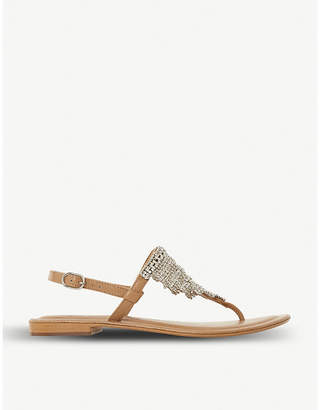 Dune Newele chain mail diamante sandal