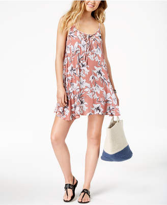 Roxy Softly Love Printed Dress Cover-Up Women's Swimsuit