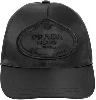 Prada Logo Patch Nylon Baseball Hat