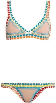 Kiini Luna crochet-trimmed triangle bikini