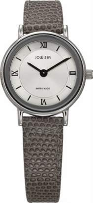 Jowissa Women's J4.048.S Bari Stainless Steel Silver Sunray Dial Grey Genuine Leather Watch