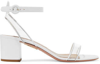 Aquazzura Minimalist 50 Patent-leather And Pvc Sandals - White