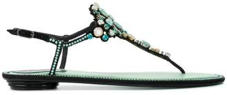 Rene Caovilla crystal embellished sandals