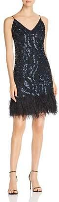 Elie Tahari Porsha Embellished Slip Dress
