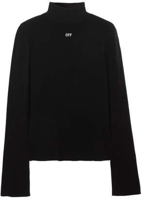 Angel Stretch-knit Turtleneck Sweater - Black