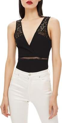 Topshop Lace Plunge Bodysuit