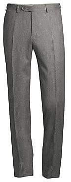 Canali Men's Regular-Fit Wool Flannel Trousers