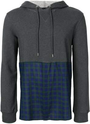 Kris Van Assche checked-pannel hoodie