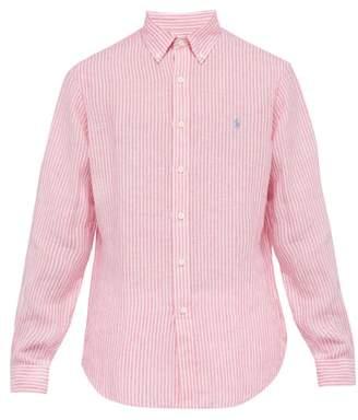 Polo Ralph Lauren Striped Linen Shirt - Mens - Pink