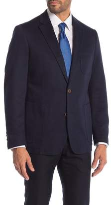 English Laundry Navy Pique Weave Two Button Notch Lapel Sport Coat
