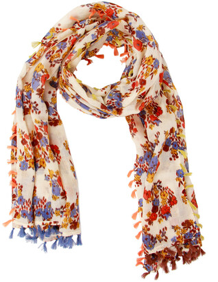Saachi Floral Tassel Wrap