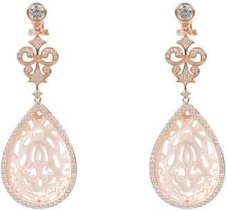 Mother of Pearl Latelita - Rosegold Medium Teardrop Carved Earring