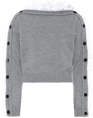 Philosophy di Lorenzo Serafini Lace-trimmed wool sweater