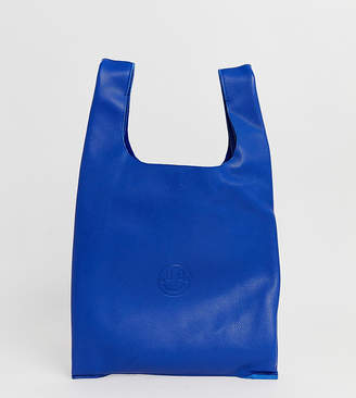 Hill & Friends Hill and Friends Happy leather shopper bag in blue