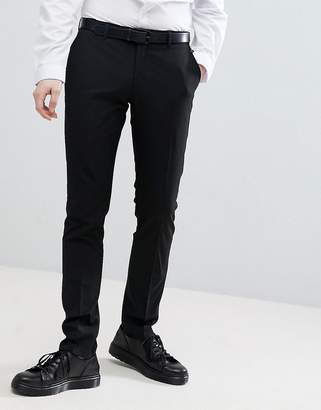 Selected Skinny Suit Trousers In Stretch In Black