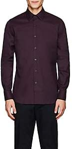 Prada Men's Cotton Poplin Dress Shirt - Purple