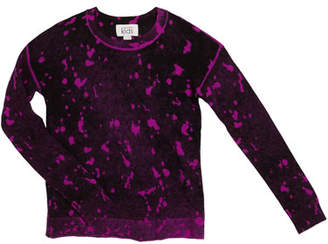 Autumn Cashmere Inked Splatter Paint Sweater, Size 8-16