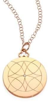 Devon Woodhill Lucky Diamond& 18K Rose Gold Locket Necklace