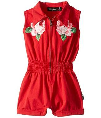 Rock Your Baby Embroidered Rose Jumpsuit (Toddler/Little Kids/Big Kids)
