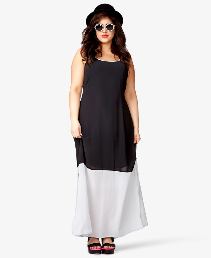 Forever 21 FOREVER 21+ Colorblocked Maxi Dress