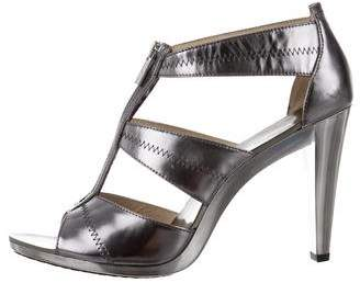 MICHAEL Michael Kors Metallic Leather Cage Sandals