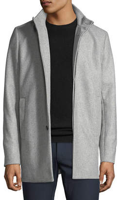 Theory Men's Christopher Hidden-Placket Pea Coat
