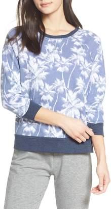 Sol Angeles White Palm Sweatshirt