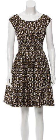 pradaPrada Geometric Print A-Line Dress