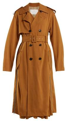 Toga Double Breasted Side Zip Trench Coat - Womens - Camel